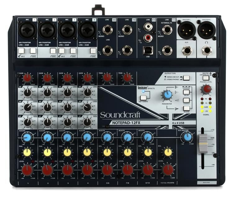 Notepad-12FX Mixer with Effects and USB