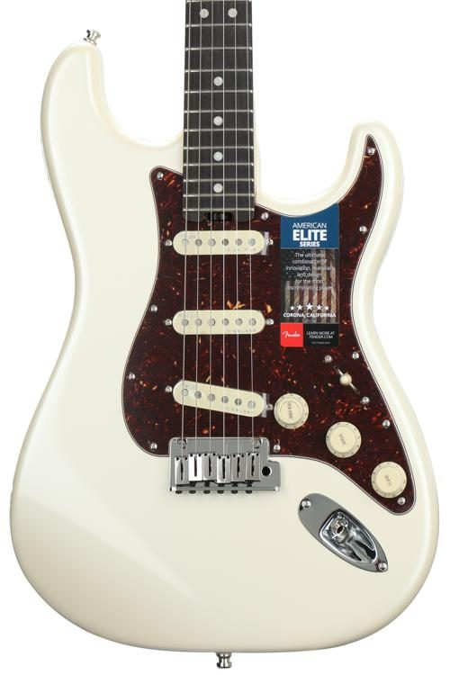 American Elite Stratocaster - Olympic Pearl w/ Ebony Fingerboard