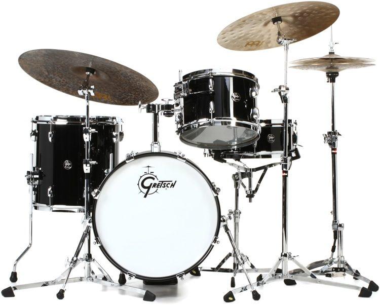 gretsch drums renown 3 piece jazz shell pack piano black sweetwater