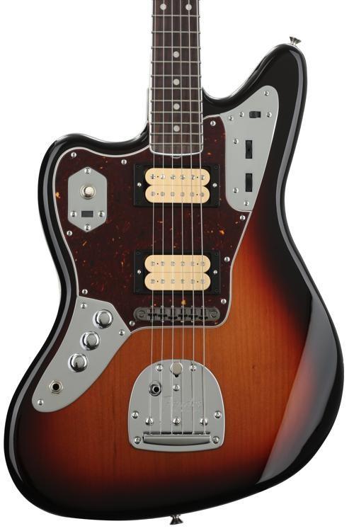 fender kurt cobain jaguar left-handed - 3-tone sunburst w/ rosewood