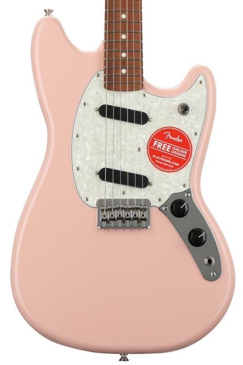 Fender Mustang S Pink With Pau Ferro Fingerboard Image 1