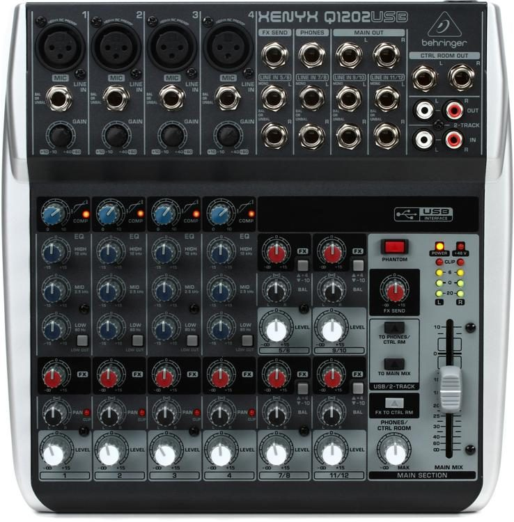 behringer xenyx q1202usb mixer with usb sweetwater rh sweetwater com behringer uca202 audio interface manual behringer audio interface review