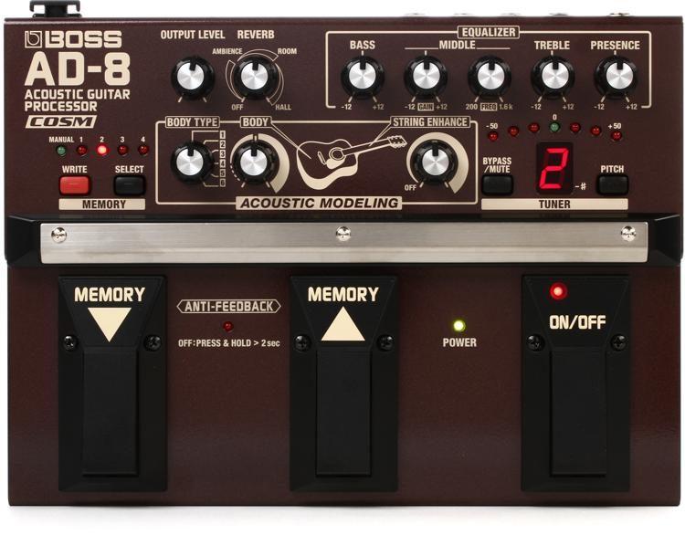 AD-8 Acoustic Guitar Processor Pedal