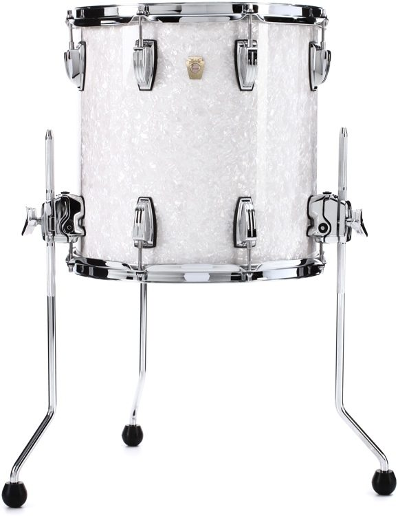 Ludwig Classic Maple Floor Tom 14 X 14 White Marine Pearl