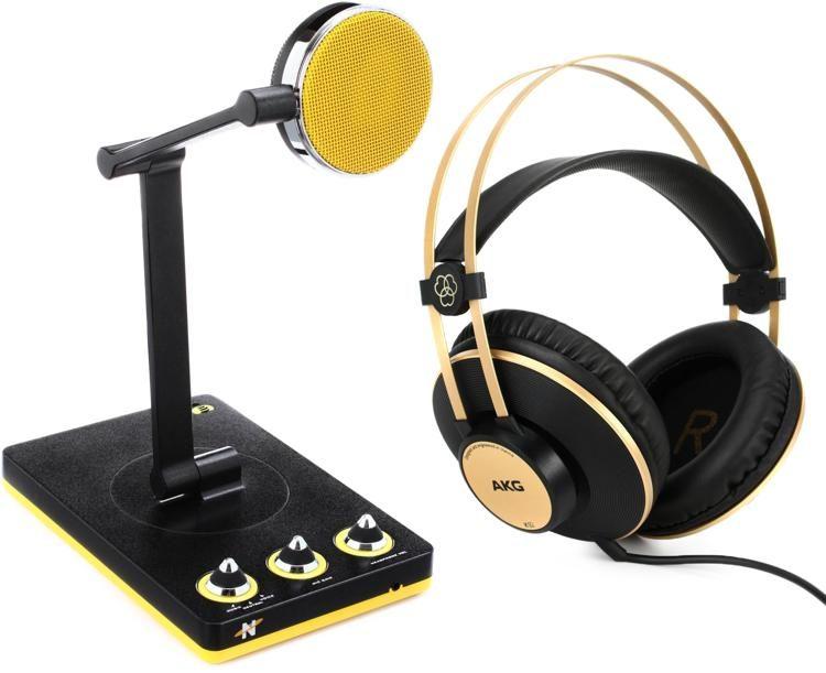 Neat Microphones Bumblebee Desktop Usb Microphone Bundle With Headphones Sweetwater