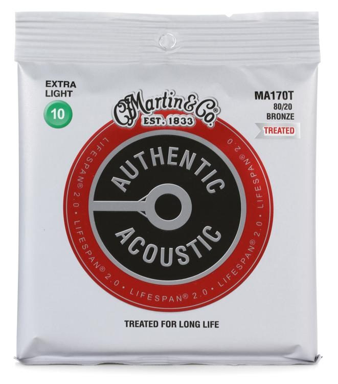Martin Authentic Acoustic Guitar Strings Lifespan 2.0 Treated