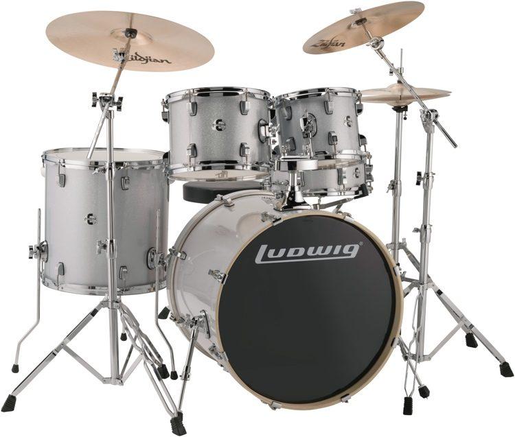 Ludwig Element Evolution 5 Piece Drum Set With Zildjian ZBT Cymbals