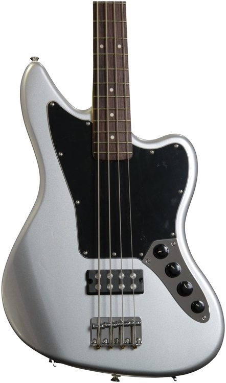 squier vintage modified jaguar bass special hb - silver | sweetwater