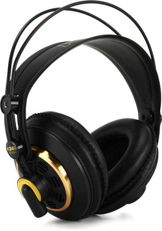 8d82fa94d3d AKG K240 Studio Semi-open Pro Studio Headphones | Sweetwater