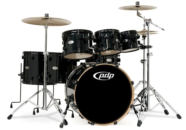 Pdp X7 Series 7 Piece Shell Pack Pearlescent Black Sweetwater