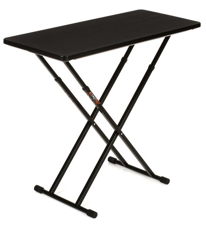 Fastset Musician Dj Utility Table Black Top