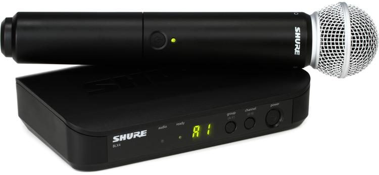 Shure BLX24/SM58 Wireless Handheld Microphone System - H10 Band   Sweetwater
