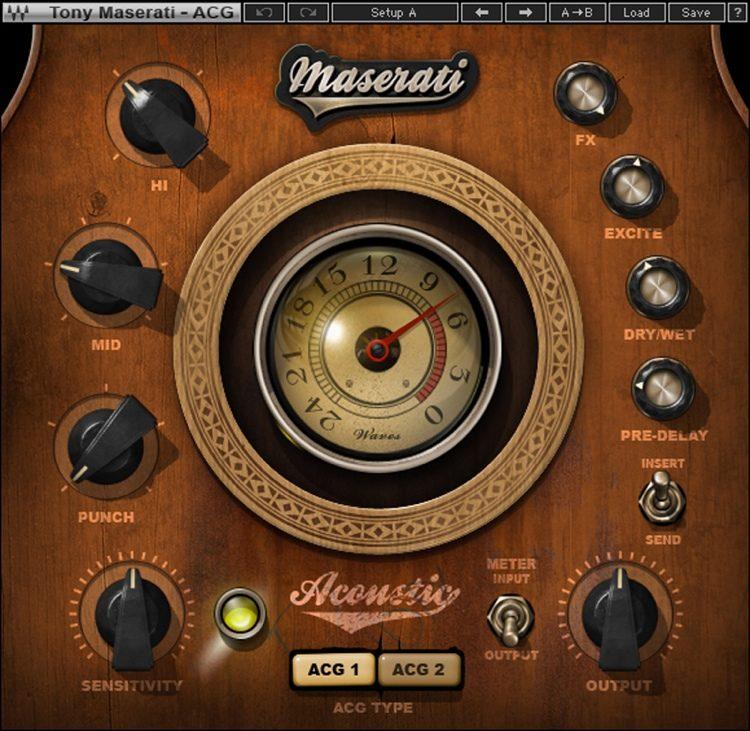 Waves Maserati ACG Acoustic Guitar Designer Plug-in | Sweeer