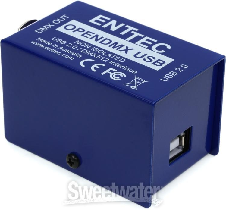 Verrassend ENTTEC Open DMX USB 512-Ch Non-Isolated DMX Interface | Sweetwater ZN-93