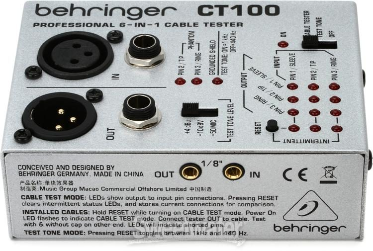 Behringer 6-In-1 CT100 Cable Tester world postage available