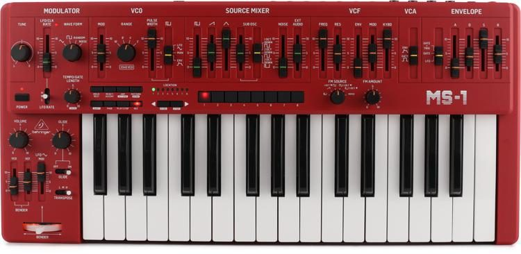 MS-1-RD Analog Synthesizer with Handgrip - Red