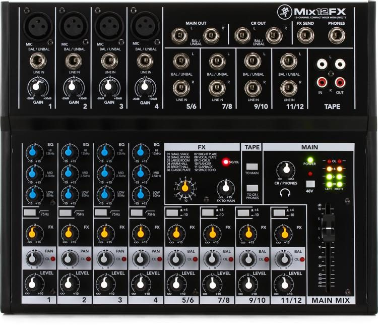 Mackie mix12fx mixer with effects | sweetwater.