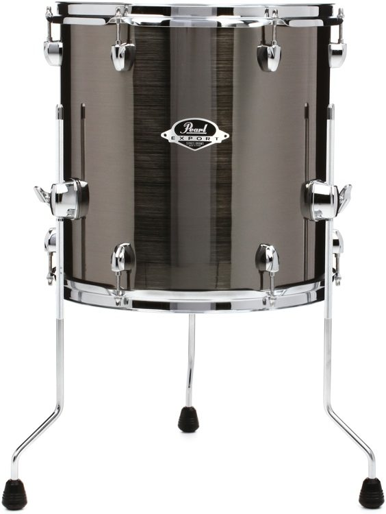 Pearl Export Exx Floor Tom 14 X 14 Smokey Chrome Sweetwater