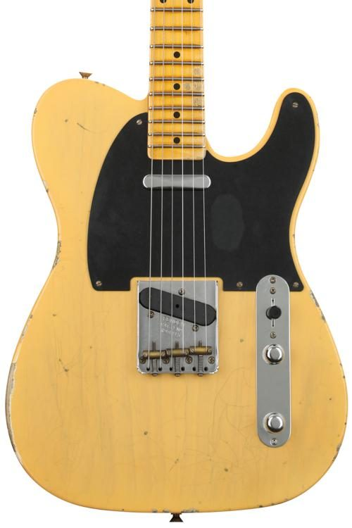 1952 Time Machine Relic Telecaster - Aged Nocaster Blonde  Nocaster Way Switch Wiring on