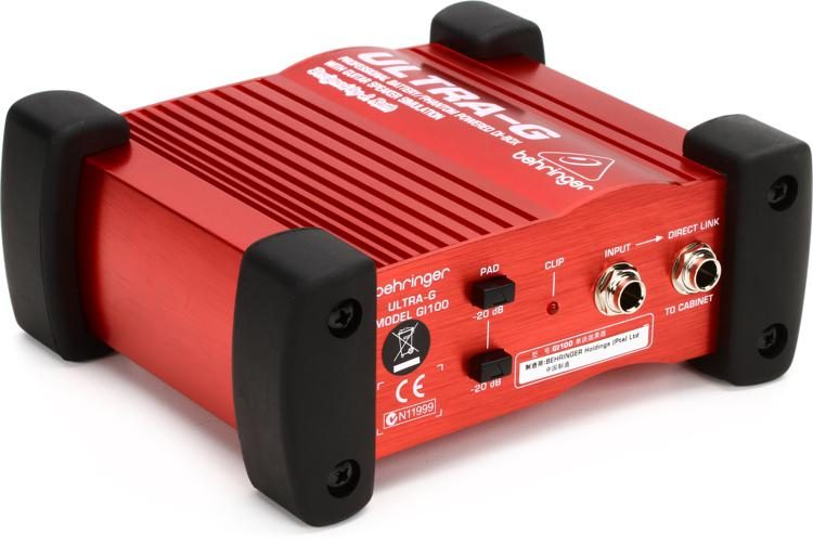 Ultra-G GI100 1-channel Active Guitar Direct Box