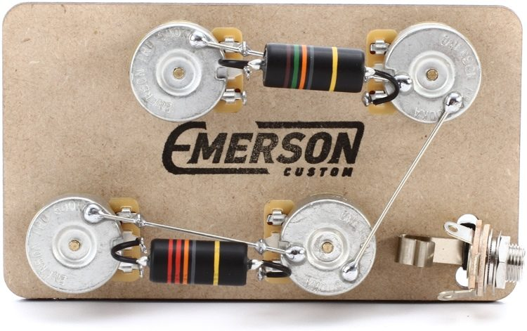 emerson custom prewired kit for gibson les paul guitars long shaft rh sweetwater com les paul wiring kit push pull les paul wiring kit push pull