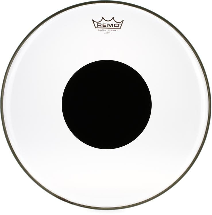 """Remo Controlled Sound Clear Drumhead with Black Dot 14/"""""""
