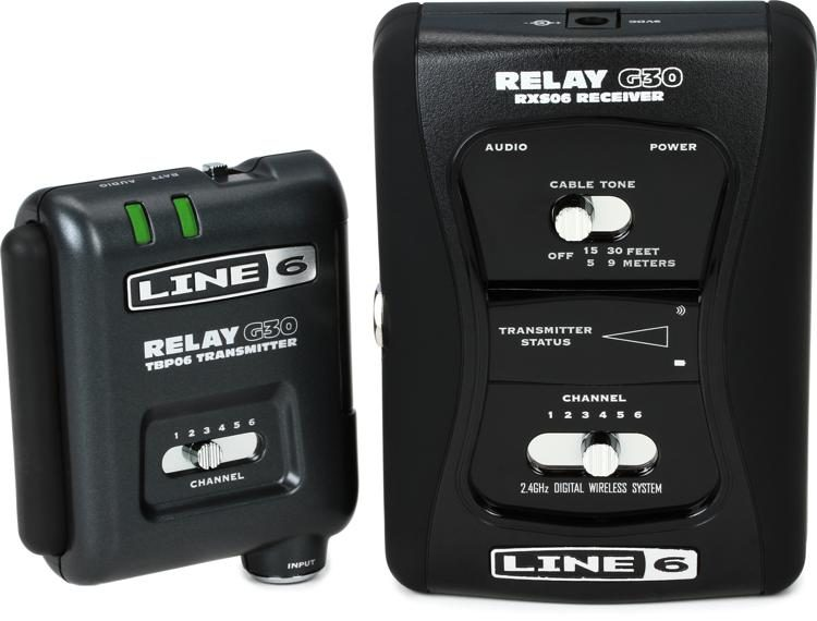 line 6 relay g30 digital wireless guitar system sweetwater