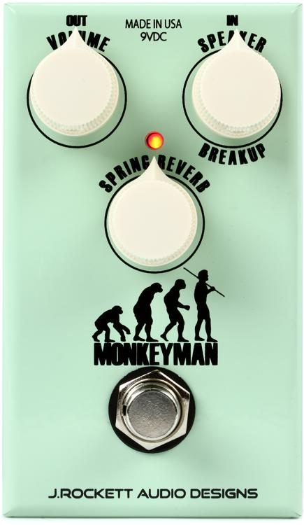 Monkeyman Classic Tweed Overdrive & Reverb Pedal