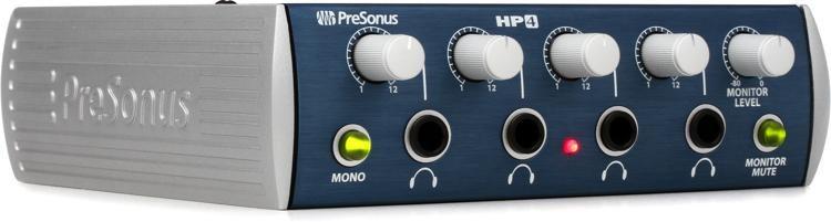 Presonus HP4 4 Channel Headphone Amplifier Monitor System+Phantom Power Supply