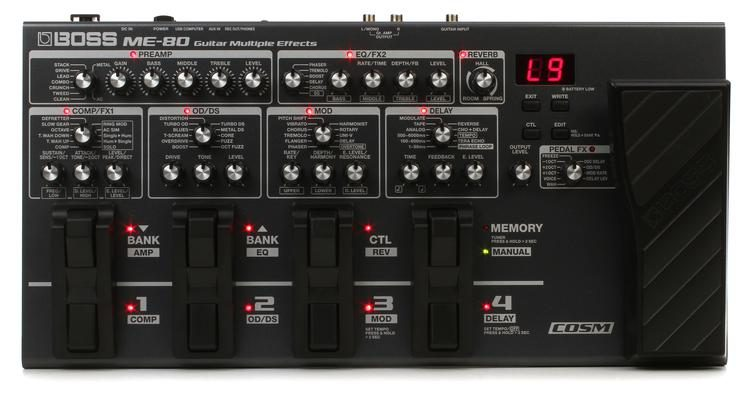 boss me 80 multi effects pedal sweetwater rh sweetwater com Boss Me 30 Review Boss Me 30 Demo