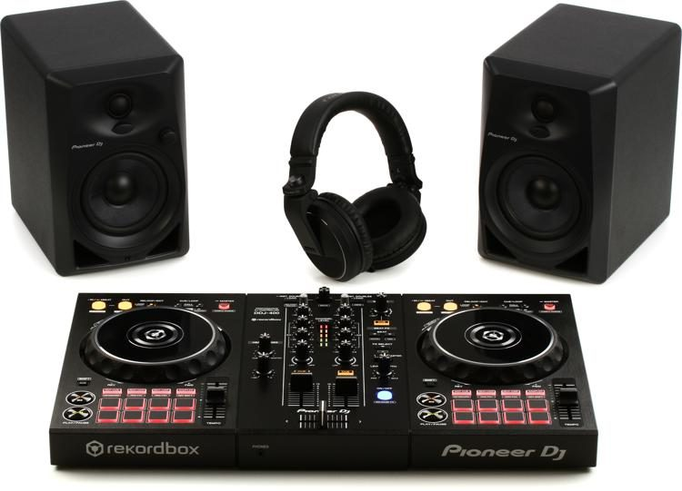 Digital DJ Package with DDJ-400, DM-40s, and HDJ-X5-K