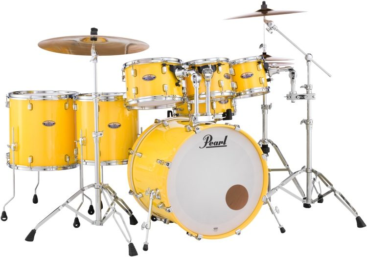 Pearl Decade Maple Shell Pack 7pc Solid Yellow Sweetwater