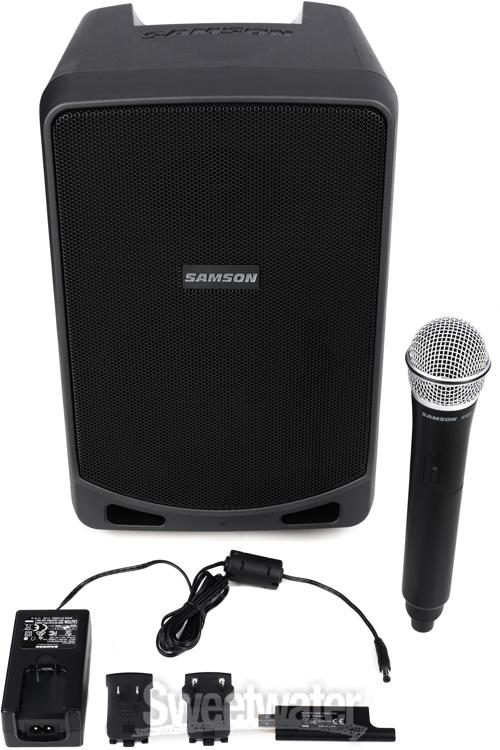 Samson Expedition XP106W 6 Rechargeable Powered Speaker+Mic+Stand+Headphones