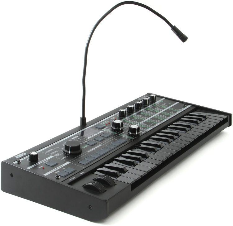 Korg microkorg all black limited edition black keys and body   reverb.