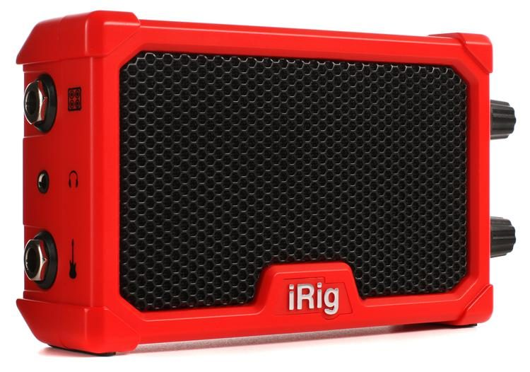 iRig Nano Amp Mobile Micro Guitar Amp and iOS Interface - Red