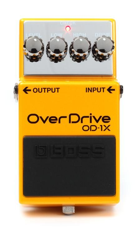 boss od 1x overdrive pedal sweetwater