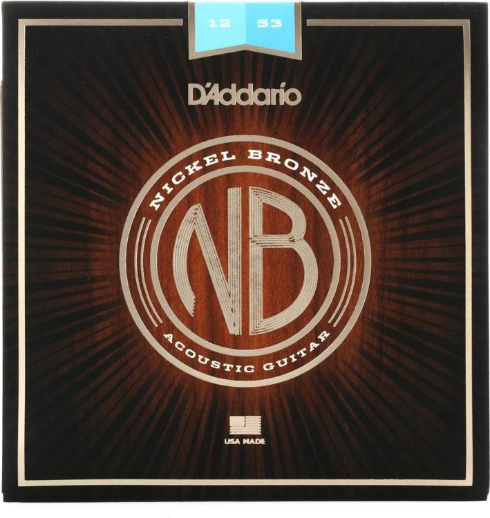 Nb1253 Nickel Bronze Acoustic Strings 012 053 Light