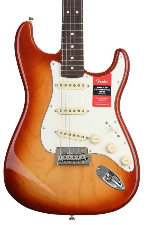 Fender Stratocaster Price >> American Professional Stratocaster Sienna Sunburst W Rosewood Fingerboard