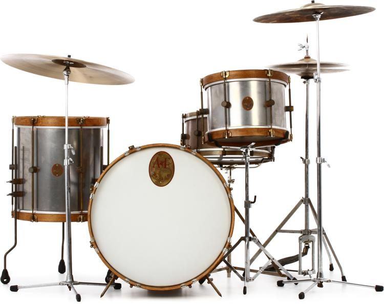 A&F Drum Company Raw Steel 3-piece Shell Pack | Sweetwater