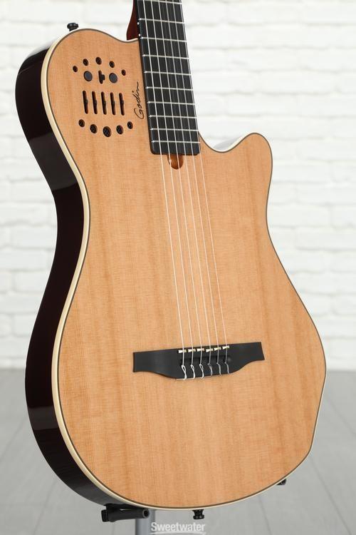 New Godin Multiac Nylon Duet Ambiance Natural Ships Free Us Acoustic Electric Guitars Guitars & Basses