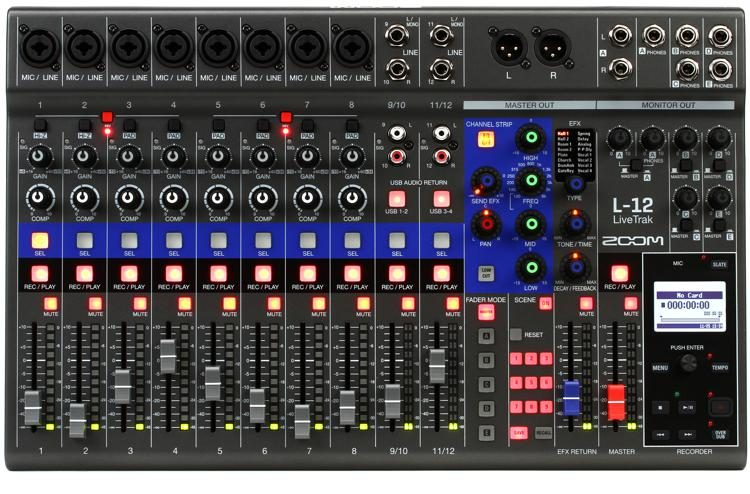 LiveTrak L-12 12-channel Digital Mixer / Recorder