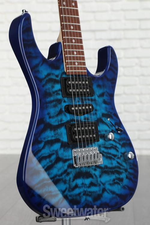 Ibanez GRX70QA-TBB in Transparent Blue Burst