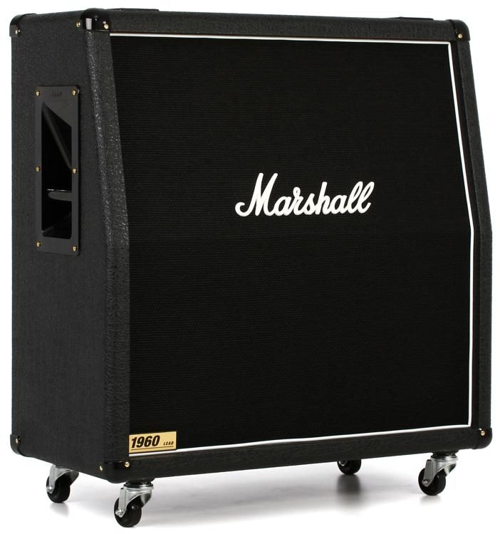 "marshall 1960a 300-watt 4x12"" angled extension cabinet 