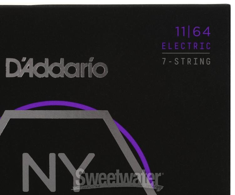 D/'Addario NYXL 1164 Nickel Wound 7-String Electric Guitar Strings 11-64