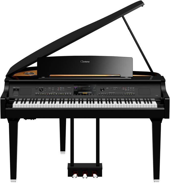 Yamaha Clavinova Cvp 809 Grand Piano With Bench Polished Ebony Sweetwater