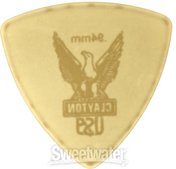 1.00mm Clayton Rounded Triangle Picks 72 pc