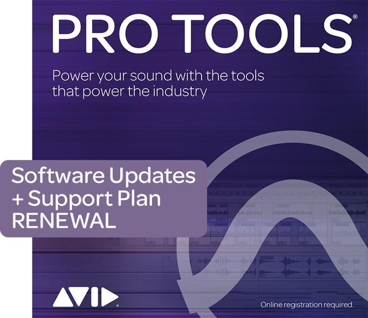 1-Year Software Updates + Support Plan RENEWAL for Pro Tools Perpetual  License
