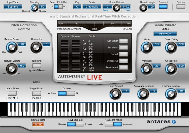 Antares Auto-Tune Live - Pitch-correction Plug-in | Sweetwater