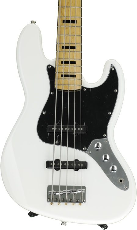 Squier Vintage Modified Jazz Bass V Olympic White Sweetwater