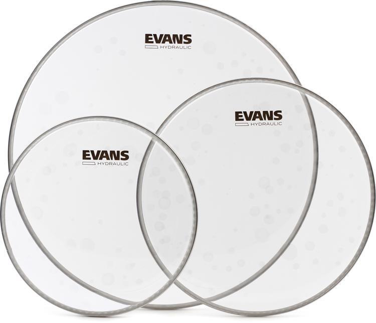 "Evans Hydraulic Glass 12/"",13/"",16/"" Tom Drum Head Pack ETP-HYDGL-S"